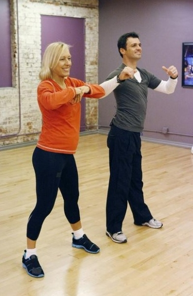 Martina Navratilova & Tony Dovolani at First Look - DWTS Season 14 Contestants in Rehearsals!