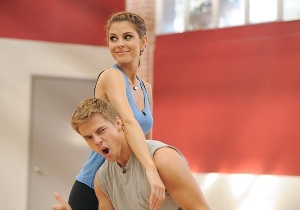 Photo Flash: Maria Menounos & Derek Hough Rehearse for DWTS!