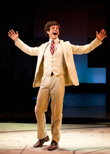 Kyle Harris as George Emerson in the World Premiere of A Room with a View, a new musical with book by Marc Acito, music and lyrics by Jeffrey Stock, additional lyrics by Acito, directed by Scott Schwartz, March 2 - April 8, 2012 at The Old Globe. Photo by at First Look at Karen Ziemba, Kyle Harris, et al. in Old Globe's A ROOM WITH A VIEW