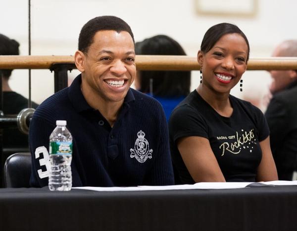 Derrick Baskin and Rockettes Dancer Danelle Morgan