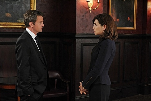 Matthew Perry & Julianna Margulies at First Look - Matthew Perry Debuts in CBS's THE GOOD WIFE