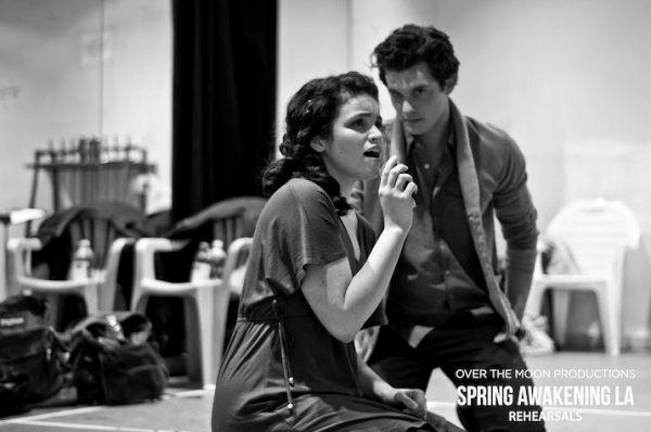 Photo Flash: GLEE's Lindsay Pearce & PRETTY LITTLE LIARS' Janel Parrish Rehearse SPRING AWAKENING In LA!