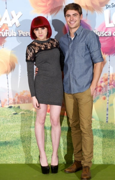 Angy & Zac Efron at Cast of THE LORAX Visits Madrid, Spain