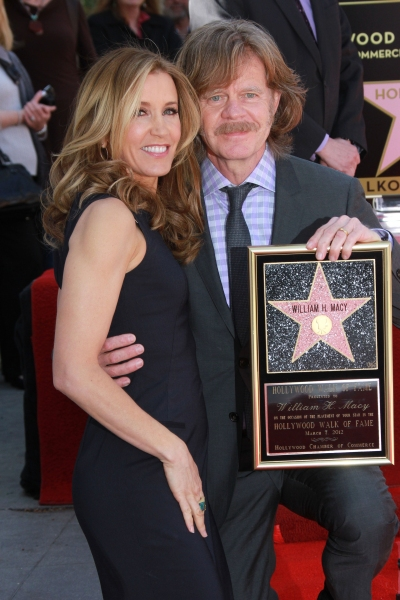 Photo Flash: Vanessa Williams, David Mamet and More Celebrate William H. Macy and Felicity Huffman's Walk of Fame Stars!