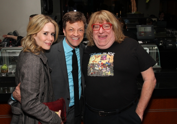 Sarah Paulson, Jim Caruso, Bruce Vilanch at Jim Caruso's CAST PARTY Visits LA!