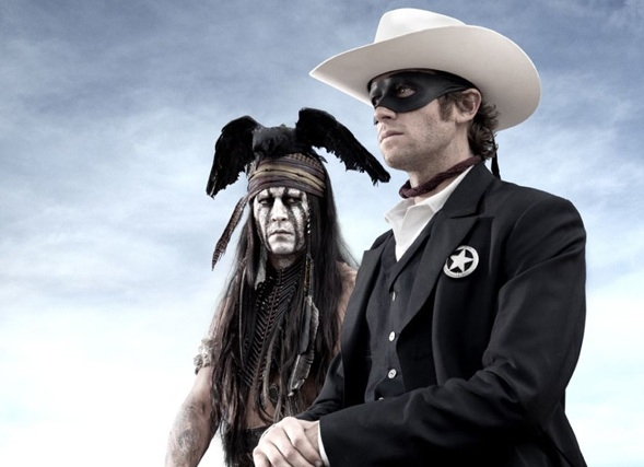 Johnny Depp & Armie Hammer at First Look - Johnny Depp in THE LONE RANGER