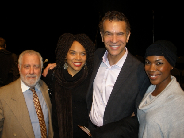 Michael Mann , Diana Zollicoffer, Brian Stokes Mitchell, and Kenyetta Lethridge at The Duke Ellington Center for the Arts Presents New Musical, YES!