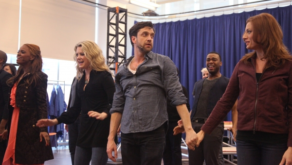 Photo Coverage: Raul Esparza, Jessica Phillips & LEAP OF FAITH Meets the Press!