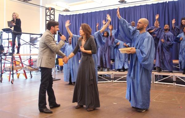 Photos: Raul Esparza, Jessica Phillips & LEAP OF FAITH Meets the Press!