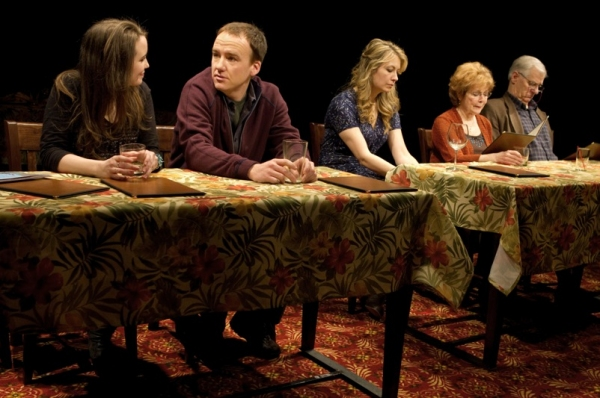 Phoebe Strole, David Wilson Barnes, Jennifer Mudge, Anita Gillette and Tom Bloom at Playwrights Horizons Presents THE BIG MEAL