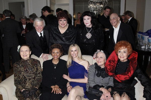 Julie Wilson, Tony Butala, Leslie Uggams, Cathryn Kenzel, Patty Farmer, Barbara Van Orden, Marge Champion, Don Dellair and Carol Lawrence at Tommy Tune, Eve Plumb, et al. Celebrate Release of Patty Farmer's 'The Persian Room Presents'