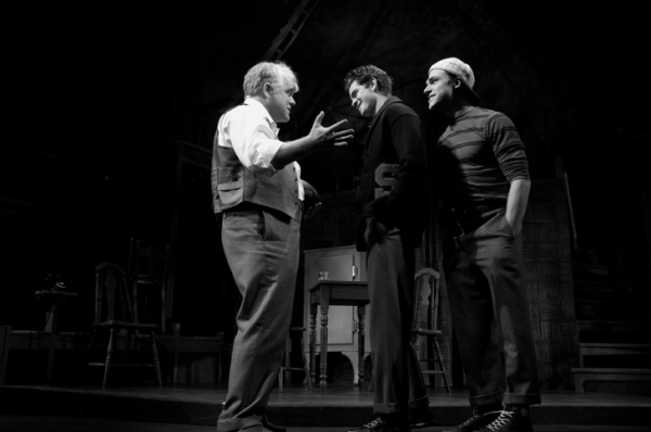 Philip Seymour Hoffman, Andrew Garfield, and Finn Wittrock