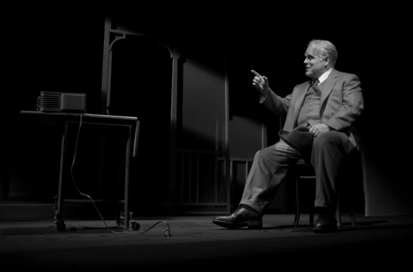 Philip Seymour Hoffman at First Look at DEATH OF A SALESMAN Starring Andrew Garfield & Philip Seymour Hoffman!