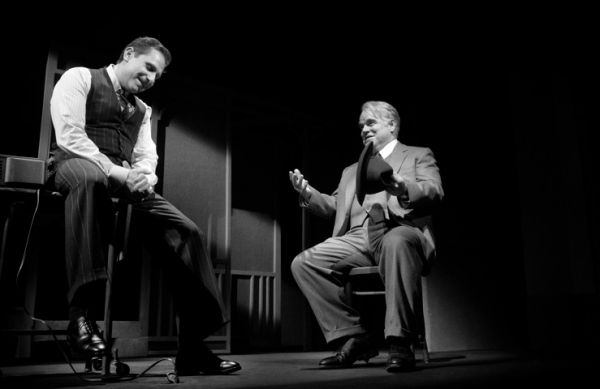 Remy Auberjonois and Philip Seymour Hoffman