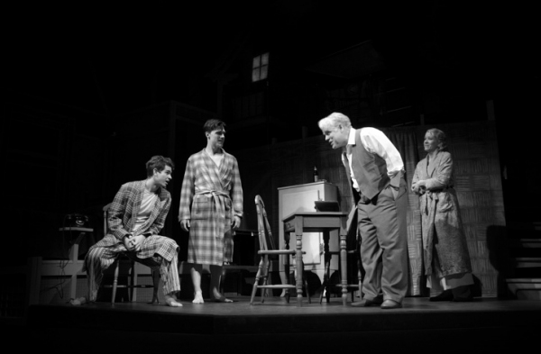 Andrew Garfield, Finn Wittrock, Philip Seymour Hoffman, and Linda Emond at First Look at DEATH OF A SALESMAN Starring Andrew Garfield & Philip Seymour Hoffman!