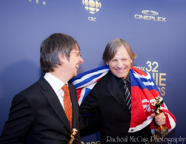 Philippe Falardeau and Viggo Mortensen at The 2012 Genie Awards!