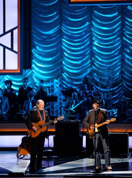 Willie Nelson and Merle Haggard pictured at The Smith Center For The Performing Arts  Photo