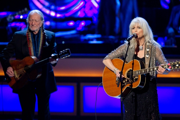 Willie Nelson and Emmylou Harris pictured at The Smith Center For The Performing Arts Photo