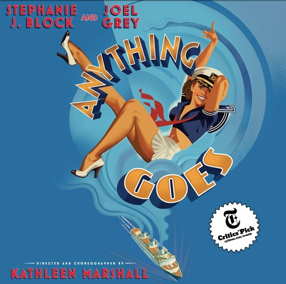 Photo Flash: New Artwork Revealed for ANYTHING GOES Starring Stephanie J. Block!