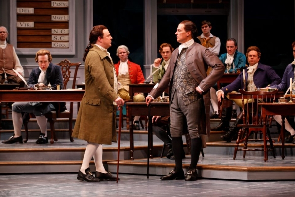 Brooks Ashmanskas and Robert Cuccioli  at First Look at Robert Cuccioli, Brooks Ashmanskas, et al. in Ford's Theatre's 1776