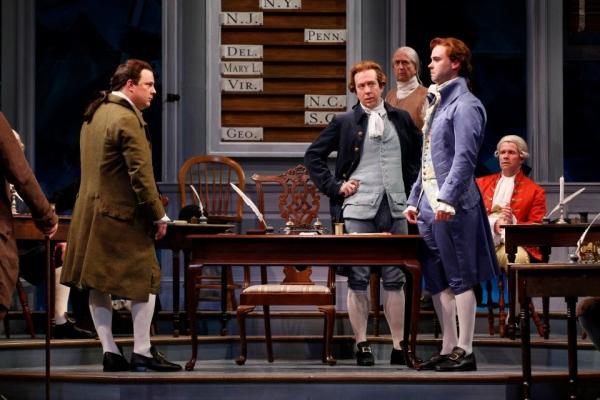 Brooks Ashmanskas, James Konicek  and William Diggle at First Look at Robert Cuccioli, Brooks Ashmanskas, et al. in Ford's Theatre's 1776