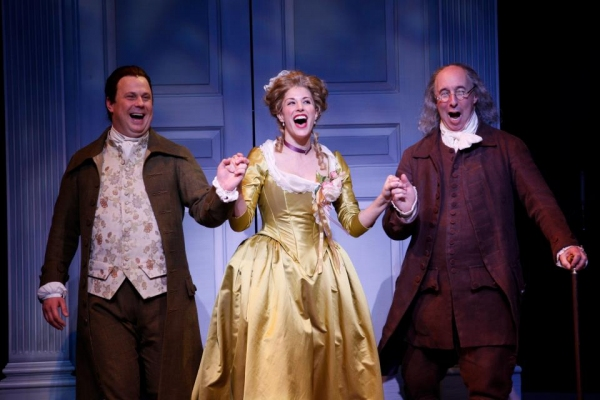Brooks Ashmanskas, Erin Kruse and Christopher Bloch at First Look at Robert Cuccioli, Brooks Ashmanskas, et al. in Ford's Theatre's 1776