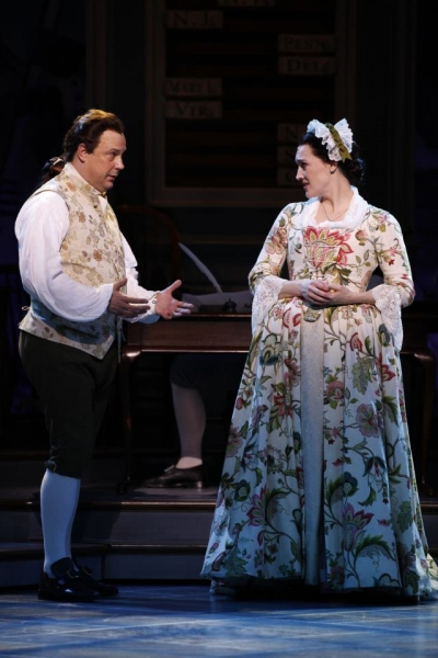 Brooks Ashmanskas and Kate Fisher  at First Look at Robert Cuccioli, Brooks Ashmanskas, et al. in Ford's Theatre's 1776