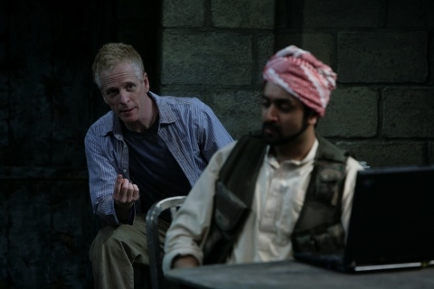 John Hickok as Nick and Bhavesh Patel as Bashir