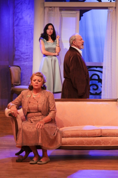 Kate Brickley as Big Mama, Jenifer Coté as Maggie and Charles Siebert as Big Daddy