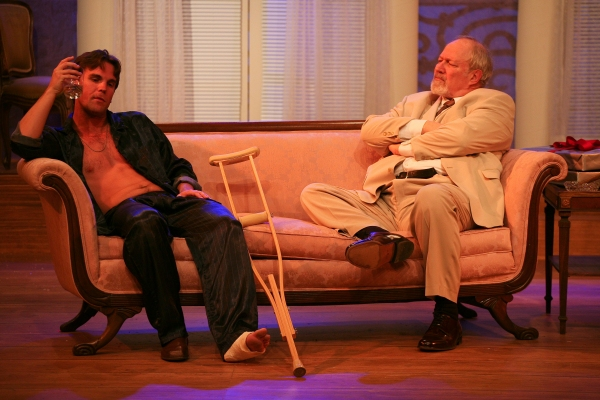 Clint Campbell as Brick and Charles Siebert as Big Daddy