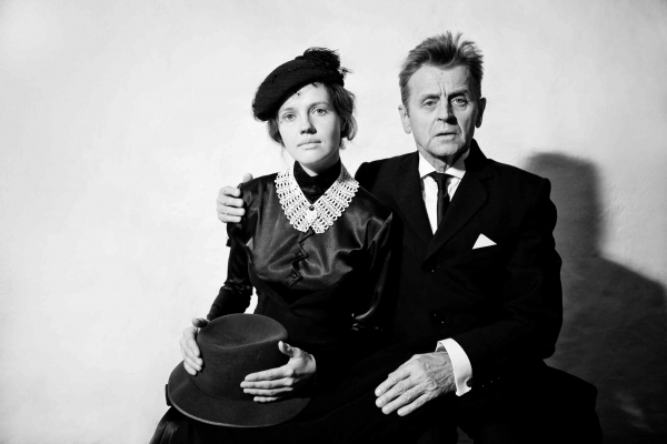 Mikhail Baryshnikov (right) and Anna Sinyakina