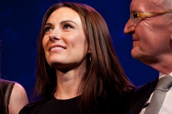 Laura Benanti and John Doyle at Laura Benanti, Kevin Kline, Sutton Foster and more Celebrate Patti LuPone at PATTI'S TURN!