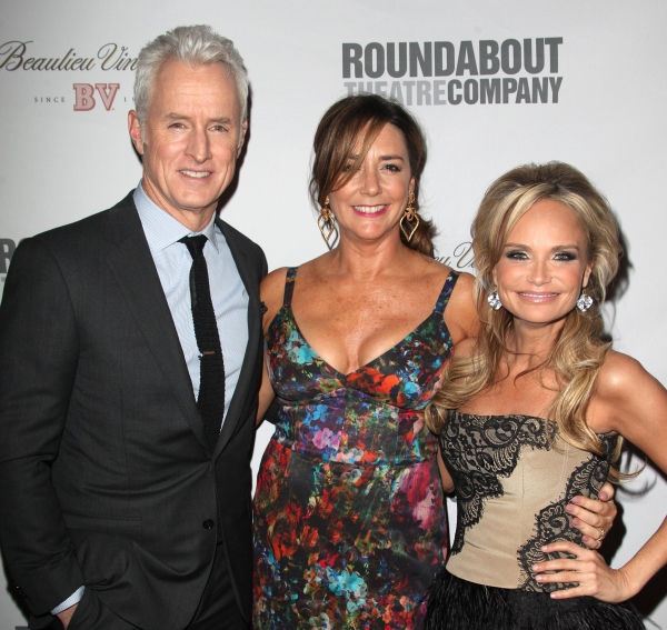 John Slattery and Talia Balsam at Bernadette Peters, Kristin Chenoweth, et al. Honor Rob Marshall at Roundabout Gala