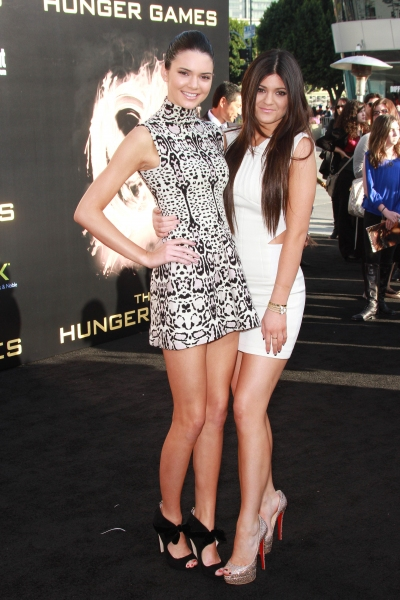 Kendall Jenner and Kylie Jenner at THE HUNGER GAMES Premiere