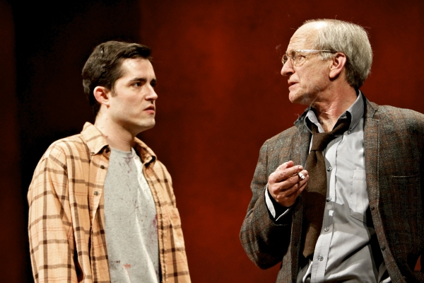 Matthew Amendt (as Ken) and Joseph Graves (as Rothko)  at Syracuse Stage Presents RED