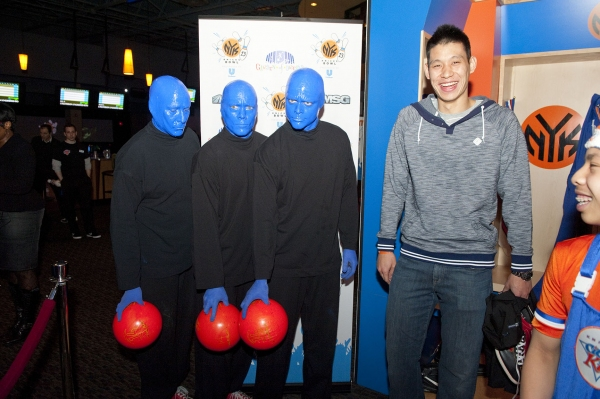 Jeremy Lin and Blue Man Group