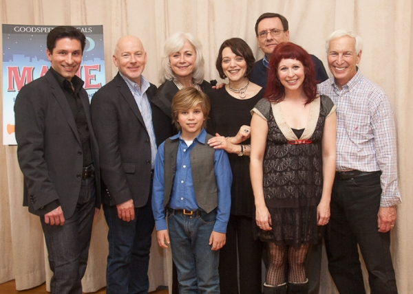 Vince Pesce, Ray Roderick, Louise Pitre, Lucas Schultz, Judith Blazer, Michael O'Flaherty, Kirsten Wyatt, Michael P. Price at Goodspeed's MAME Meets the Press