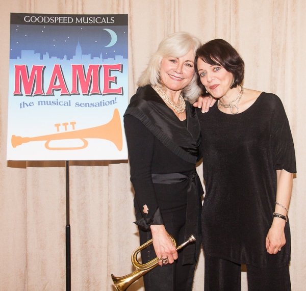 Louise Pitre and Judith Blazer at Goodspeed's MAME Meets the Press