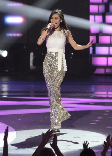 Jessica Sanchez at IDOL WATCH: The Top 12 Perform; One Contestant Eliminated Early