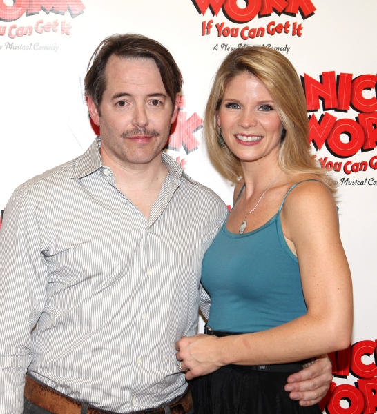 Photo Coverage: NICE WORK IF YOU CAN GET IT Meets the Press - Matthew Broderick, Kelli O'Hara and More!