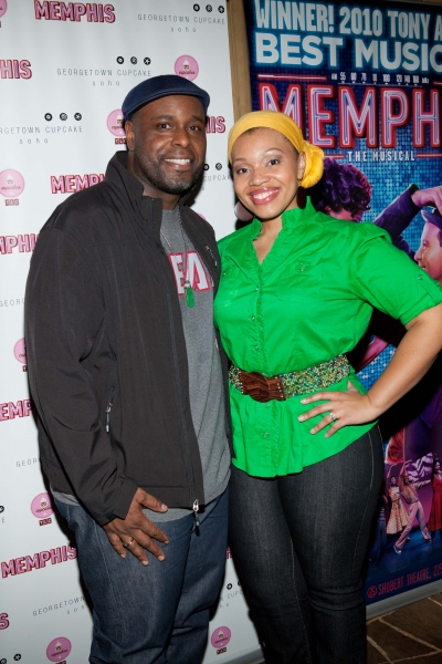 J. Bernard Calloway and his wife, Carmen Ruby Floyd at MEMPHIS Celebrates 1,000th Performance!