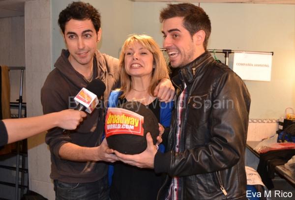 David Tortosa, Laura Castrillon y Jorge Gonzalo