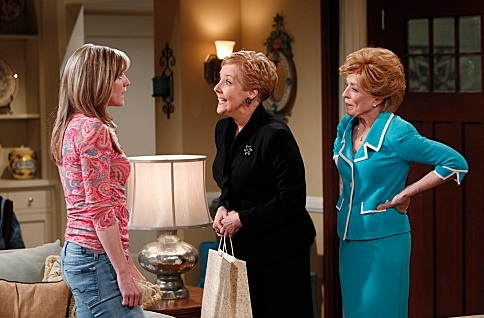Courtney Thorne-Smith, Georgia Engel & Holland Taylor at First Look - Georgia Engel Guest Stars on TWO AND A HALF MEN, 3/19