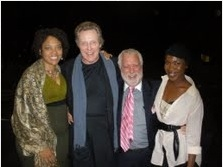 Diana Zollicoffer, Christopher Walken, Michael Mann, Kenyetta Lethridge at Christopher Walken Visits Preview of INNOCENT FLESH at Actors Temple Theatre