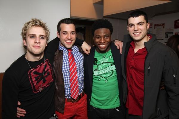 Gabriel Antonacci, Vince Oddo, Okieriete Onaodowan and Dan Gleason at AMERICAN IDIOT's Star-Studded Opening in LA!