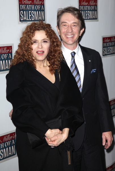 Bernadette Peters & Martin Short  at Starry Opening Night Arrivals for DEATH OF A SALESMAN!