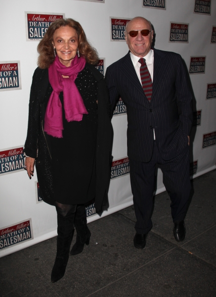 Diane Von Furstenberg & Barry Diller at Starry Opening Night Arrivals for DEATH OF A SALESMAN!