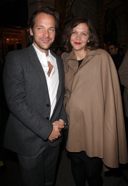 Peter Sarsgaard and Maggie Gyllenhaal at Opening Night at the DEATH OF A SALESMAN Stage Door!