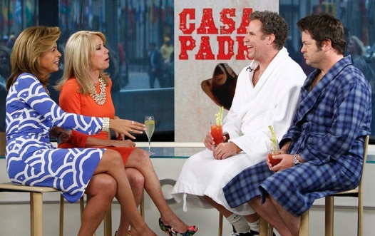 Hoda Kotb, Kathie Lee Gifford, Will Ferrell & Nick Offerman at Will Ferrell Promotes CASA DE MI PADRE on NBC's 'Today'