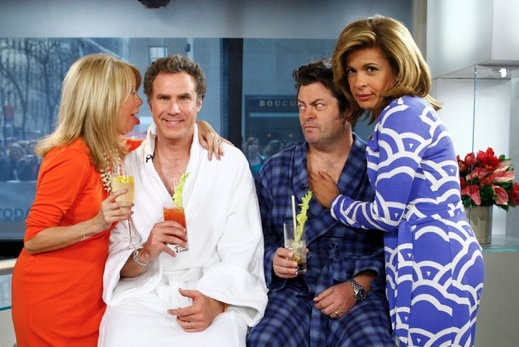 Kathie Lee Gifford, Will Ferrell, Nick Offerman & Hoda Kotb at Will Ferrell Promotes CASA DE MI PADRE on NBC's 'Today'